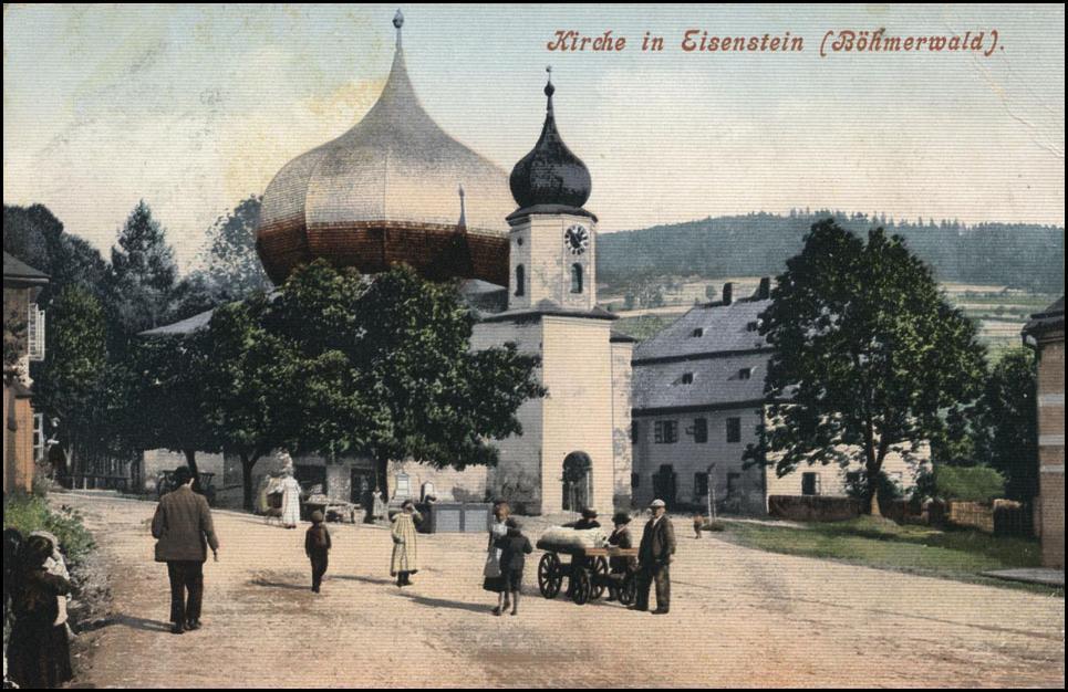 Kostel-v-Železné-Rudě-v-roce-1907