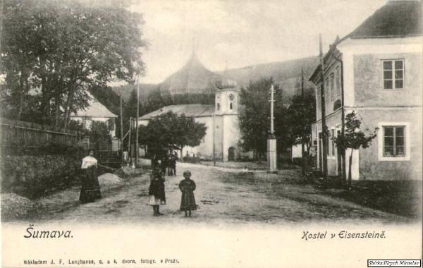 Kostel-v-Železné-Rudě-v-roce-1910