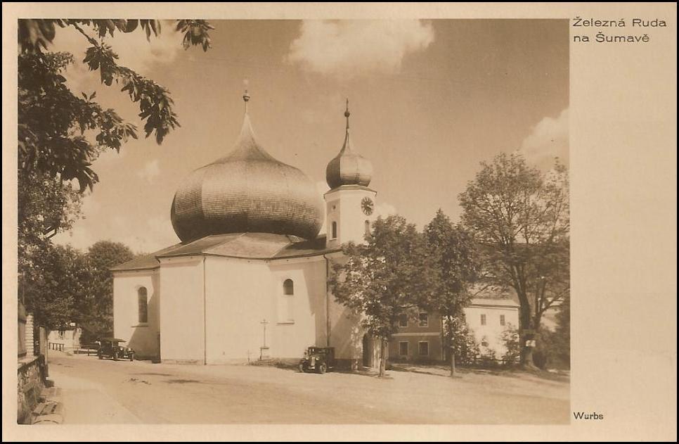 Kostel-v-Železné-Rudě-v-roce-1937